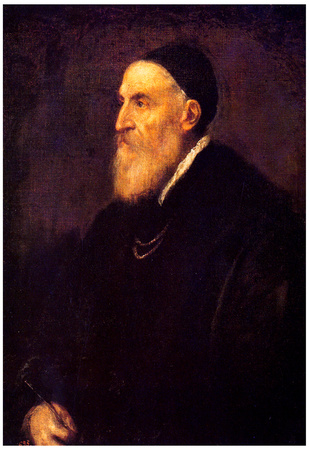 Titian Self-Portrait 1570 Art Print Poster Posters