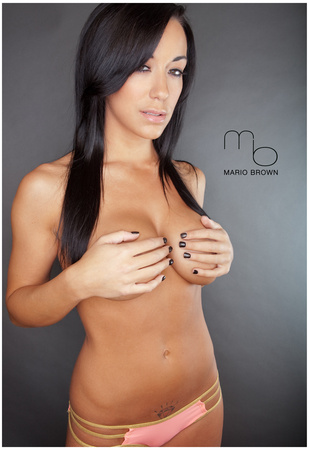 Shauna Gardner Topless Sexy Photograph Poster Print by Mario Brown Posters