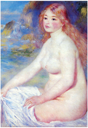 Pierre Auguste Renoir The Blond Bather Art Print Poster Posters