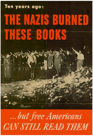 The Nazis Burned These Books but Free Americans Can Still Read Them WWII War Propaganda Poster Photo