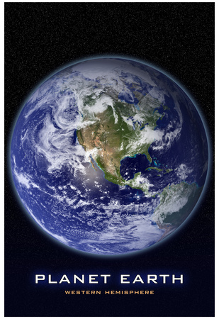 Planet Earth From Space Western Hemisphere Photo Poster Poster