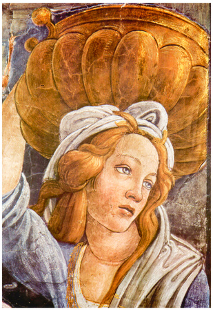 Sandro Botticelli Sistine Chapel The Youth of Moses Detail 3 Art Print Poster Posters