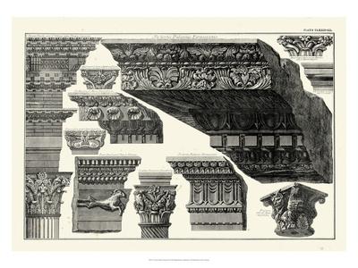 Cornice Palatinis Farnesiani Prints by Giovanni Battista Piranesi
