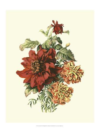 Lush Floral II Prints by Ernest-adolphe Guys