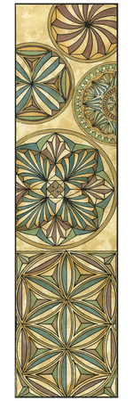 Non-Embellish Stained Glass Panel I Prints by  Vision Studio