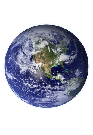 Planet Earth Western Hemisphere on White Art Print Poster Posters