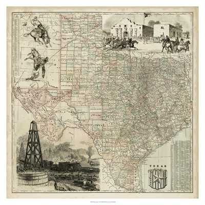 Map of Texas Prints