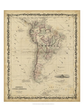Johnson's Map of South America Poster