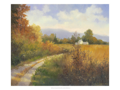 Autumn Country Road Print by Mary Jean Weber