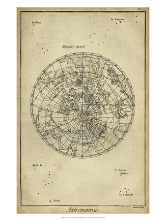 Antique Astronomy Chart II Posters by Daniel Diderot