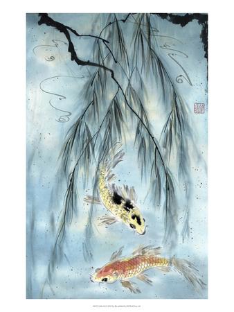 Golden Koi Posters af Nan Rae