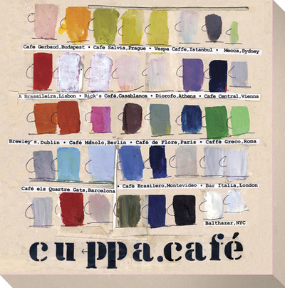 Cuppa Cafe Stretched Canvas Print by  KOCO