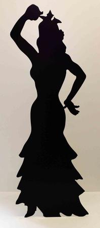 Flamenco Dancer -Silhouette Figura de cartón