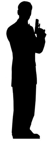 Secret Agent-Male- Single Pack Figura de cartón