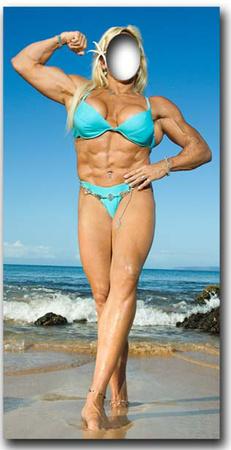 Muscle Woman-Stand- In Figura de cartón