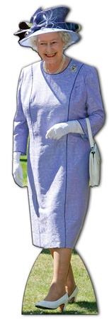 Queen Elizabeth Lilac Dress Lifesize Standup Postacie z kartonu