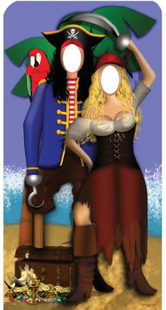 Pirate Couple Stand- In Figura de cartón