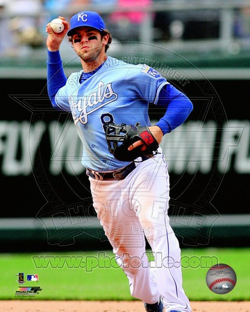 Mike Moustakas 2012 Action Photo