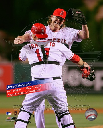 Jered Weaver No-Hitter May 2, 2012 Photo