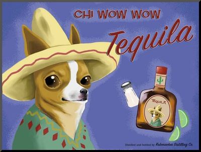 Chi Wow Wow Tequila Mounted Print by Brian Rubenacker