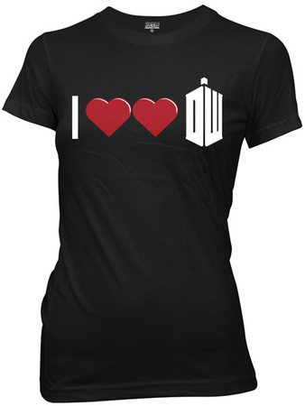 Juniors: Doctor Who - Double Heart Dr. Who T-Shirt