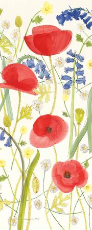 Meadow Poppies III Poster by Rebecca Bradley
