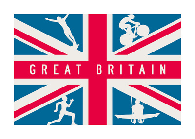 Sporting Britain I Print by  The Vintage Collection