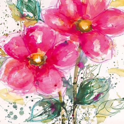 Pink Flower II Prints by Lilian Scott