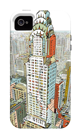 Manhattan Empire State Building illustration iPhone case design artwork