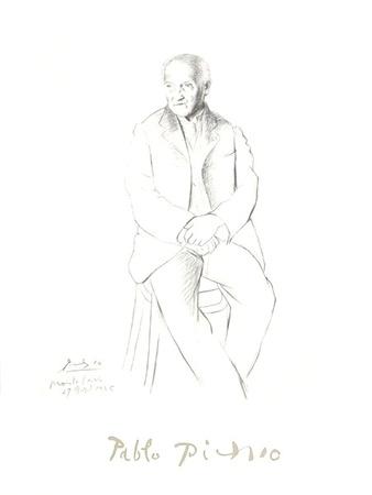 Portrait du Maitre de Ballet de la Scala de Milan Samlertryk