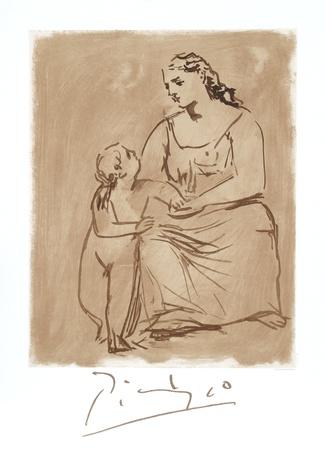 Maternite Lámina coleccionable por Pablo Picasso