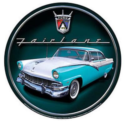 Ford Fairlane Car Round Tin Sign