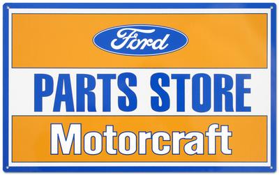 Ford Parts Store Motorcraft Tin Sign