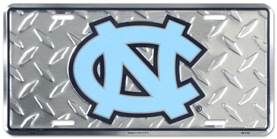 North Carolina Tar Heels Diamond License Plate Tin Sign
