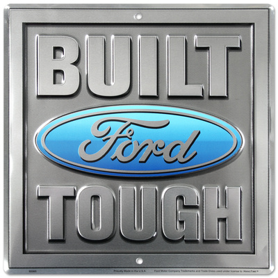 Build Ford Tough Truck Square Tin Sign