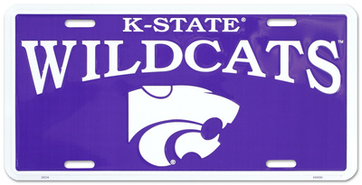 Kansas State Wildcats License Plate Tin Sign!