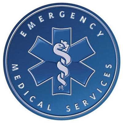 Emergency Medical Services EMS Ambulance Round Tin Sign