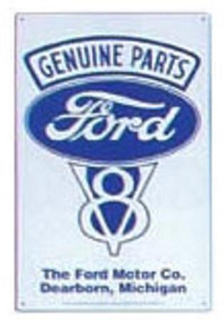 Genuine Ford Parts V-8 Tin Sign