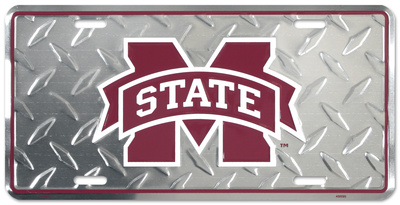 Mississippi State Diamond License Plate Tin Sign