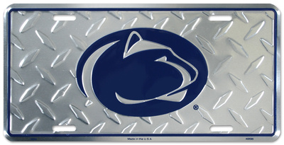 Penn State Diamond License Plate Tin Sign