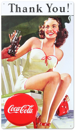 Drink Coca Cola Coke Thank You Beauty Tin Sign