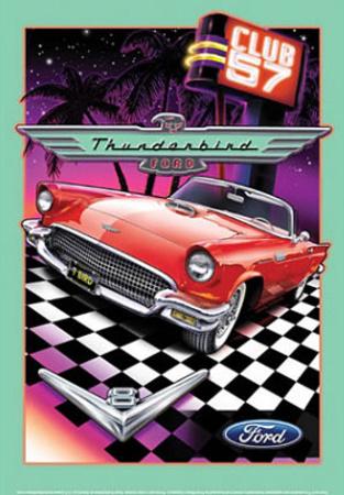 Ford Thunderbird Club 57 Car Tin Sign