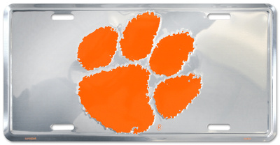 Clemson Tigers License Plate Tin Sign