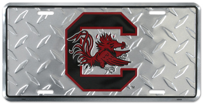 Carolina Gamecocks Diamond License Plate Tin Sign