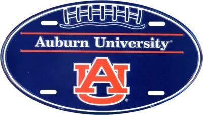 Auburn Oval License Plate Tin Sign