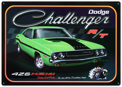 Dodge Challenger 426 Hemi R/T Car Plåtskylt
