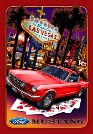 Ford Mustand Las Vegas Car Tin Sign
