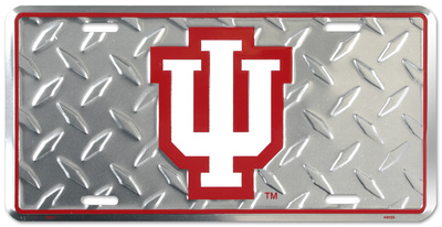 Indiana Hoosiers Diamond License Plate Tin Sign