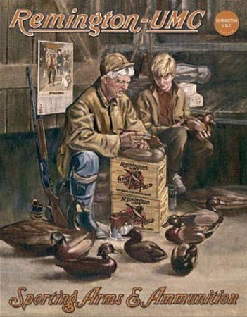 Remington - UMC Hunting Duck Decoy Maker Tin Sign