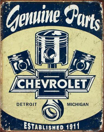 Chevrolet - Chevy Genuine Parts Pistons Metal Tabela